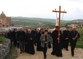 The Way of The Cross is held on Ta' Ghammar Hill in Gharb