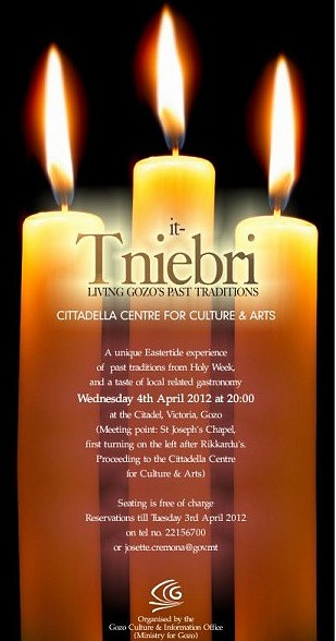 'It-Tniebri' - A Cultural Event for the Holy Week in Gozo