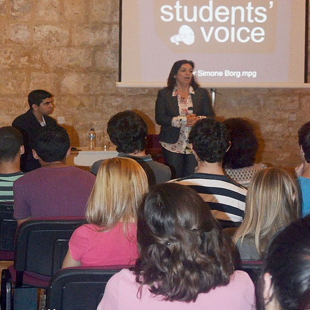 Students' Voice discussion held in Gozo with Dr Simone Borg