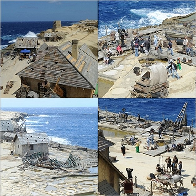 Movie 'Fort Ross' being filmed in the Qbajjar area of Gozo