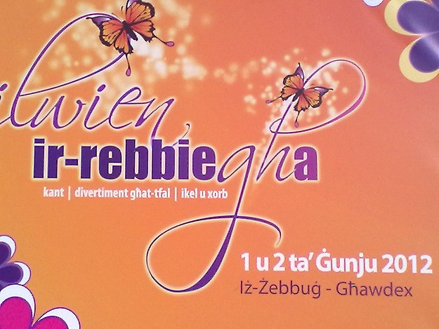 'Lwien ir-Rebbiegha' festivities in Zebbug this Saturday