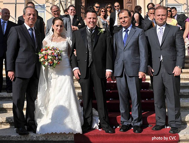 The marriage of Nicholas Magro and Rossana Scerri in Gozo