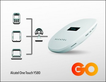 GO introduces Alcatel One Touch Y580  mobile Wi-Fi device