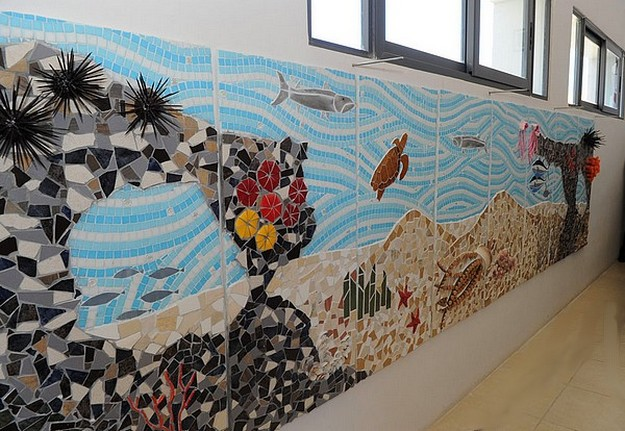 Marine mosaic mural inaugurated at Gozo secondary school