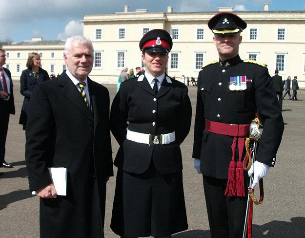 AFM Officer graduates from the Sandhurst Military Academy
