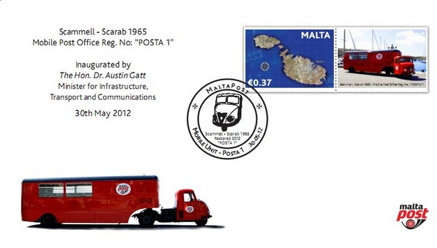 MaltaPost rolls out its historical mobile post office