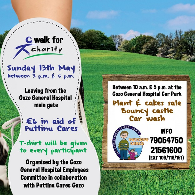 Fun Walk for charity on Sunday in aid of Puttinu Cares Gozo