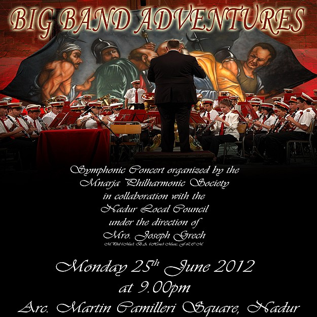 Big Band Adventures symphonic soncert by the Mnarja Band
