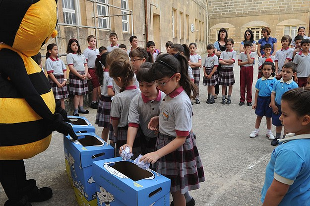 Paper Recycling bins in all Gozo Primary School classrooms