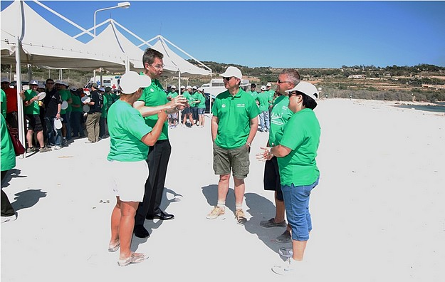 HSBC clean-up for World Environment Day in Gozo & Malta