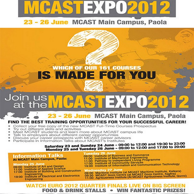 All set for the start of the first MCAST Expo this weekend