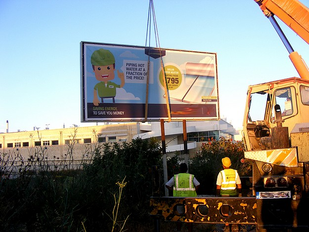 MEPA takes direct action removing illegal billboards in Malta