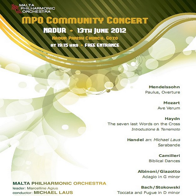Malta Philharmonic Orchestra Community Concert at Nadur