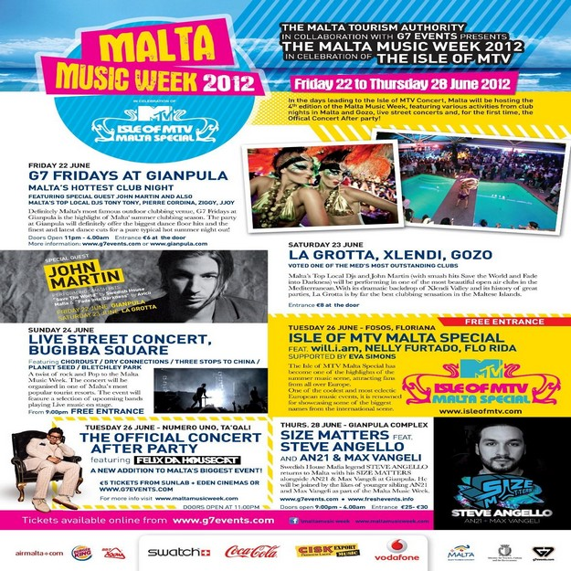 The annual Isle of MTV Concert programme announced