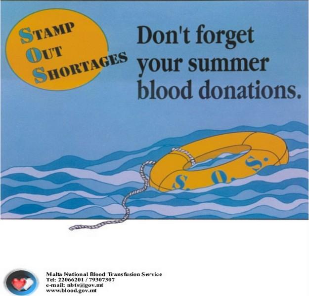 Donate blood at Gozo Hospital & Ghajnsielem Band Club