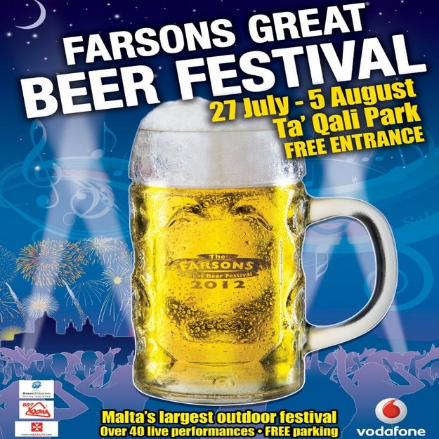 The Farsons Great Beer Festival 2012 starts this Friday