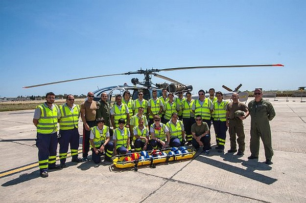 Gozo's ERRC members receive AFM helicopter training