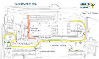 Deviation at Malta Airport due to road resurfacing works