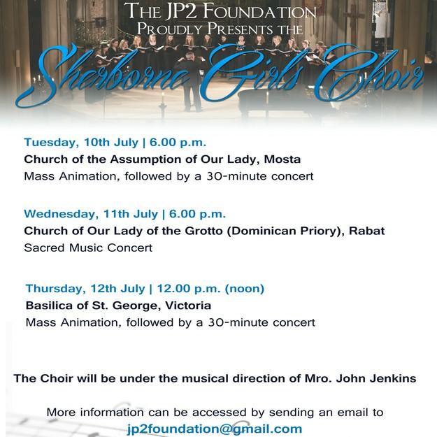 Sherborne Girls Choir on tour of Malta & Gozo for 3 days