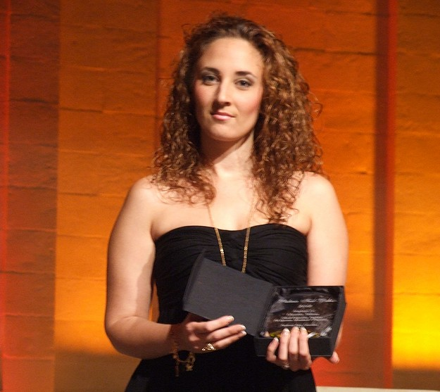 Claudia Tabone wins the 'Il-Palma tad-deheb' award 2012