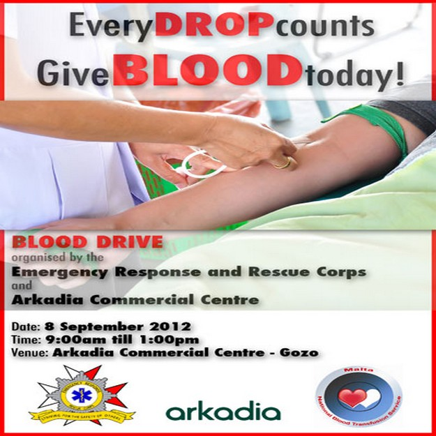 ERRC Blood Drive at Arkadia Commercial Centre in Gozo