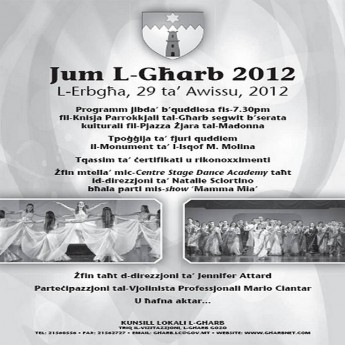 Gharb village celebrates 'Jum L-Gharb 2012' on Wednesday