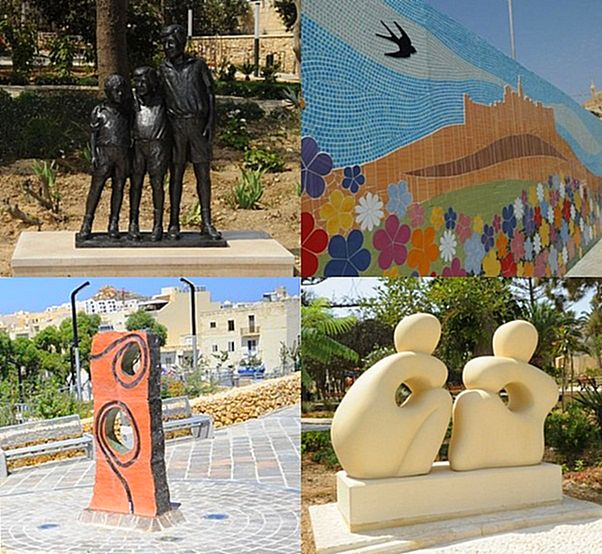 Four new outdoor works of art inaugurated around Gozo