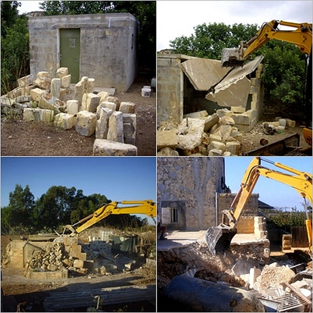 MEPA demolishes illegal rooms in Qala and parts of Malta