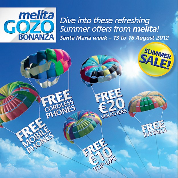 Free gifts and offers at next weels Melita Gozo Bonanza