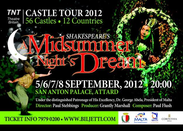 TNT Theatre Britain to perform 'A Midsummer Night's Dream'
