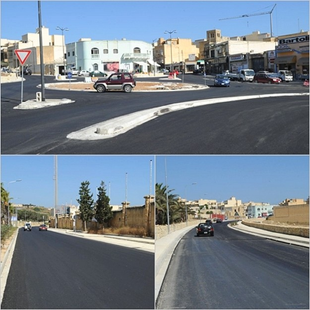 Gozo's main road from Mgarr to Victoria is now fully open
