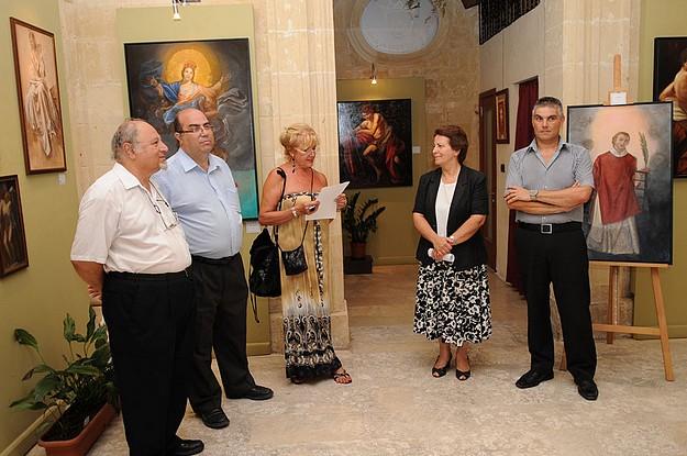 'The Saints of Malta' art exhibition by Adriana Caffaro Rore