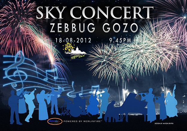 Sky Concert spectacular Zebbug fireworks with music display