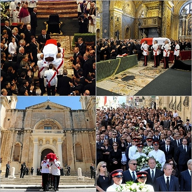 State Funeral of Dom Mintoff held this morning in Valletta