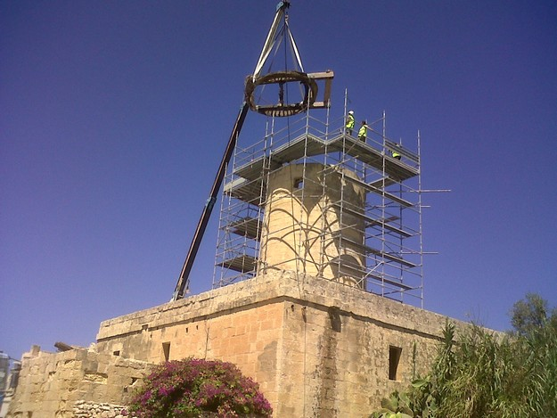 Ta' Kola Windmill restoration project now in the final stages