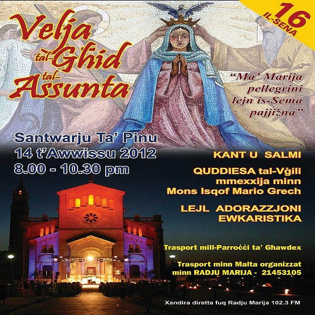 Diocesan Vigil of the Assumption of Our Lady in Heaven