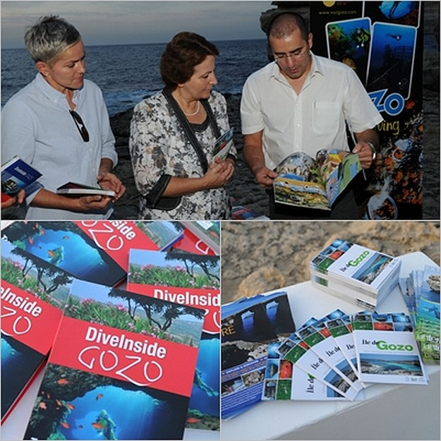 Publication launched for divers in Gozo -  'DiveInside Gozo'