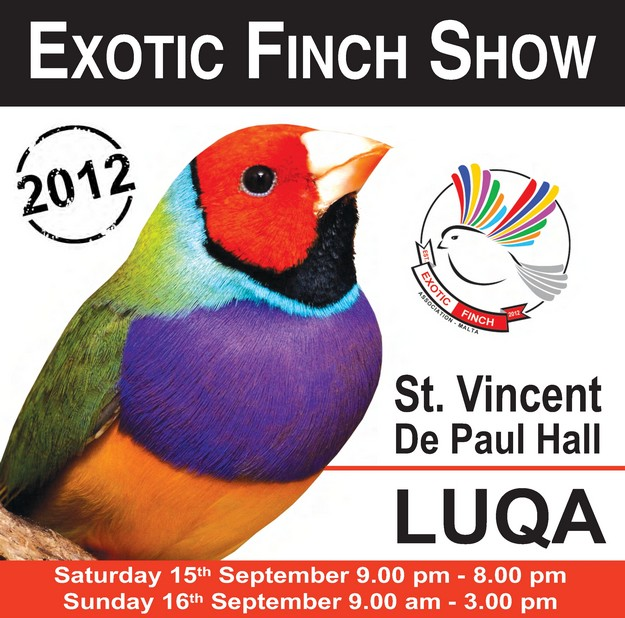 Exotic Finch Association Exhibition in Malta this weekend