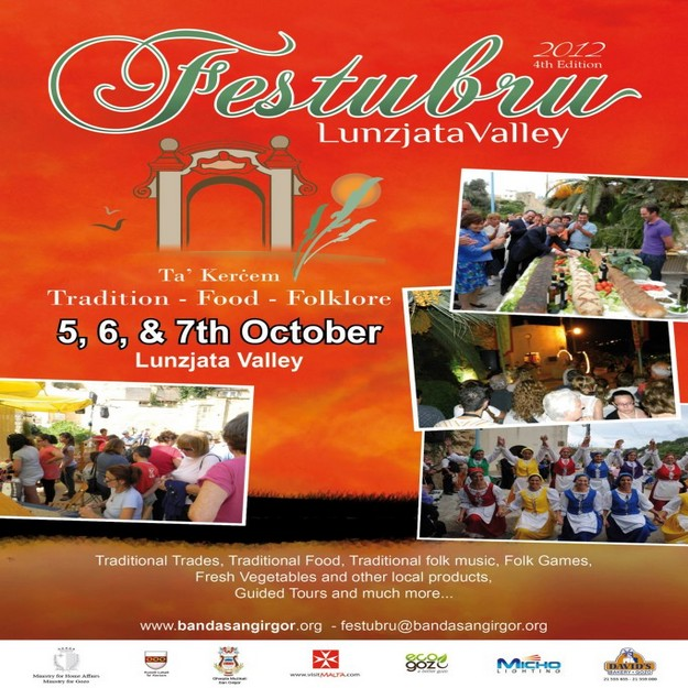 Festubru 2012  next weekend at the Lunzjata Valley in Gozo