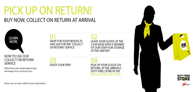 'Collect on Return' service from Malta Airport Duty Free