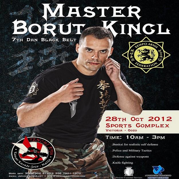 Master Borut Kincl at Tenchi Ryu Kempo Karate Club seminar