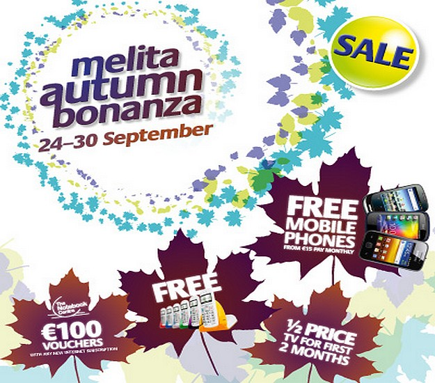 Discounts and freebies with Melita's Autumn Bonanza