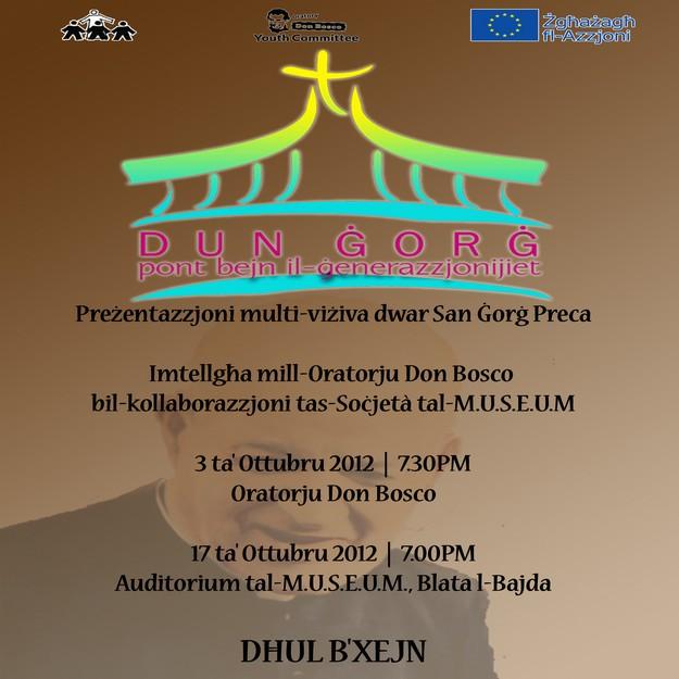 Multi-Media presentation on St. George Preca in Gozo