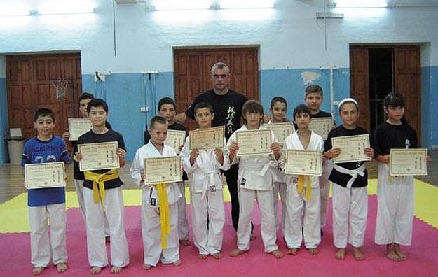Grading exams held at the Tenchi Ryu Kempo Karate school