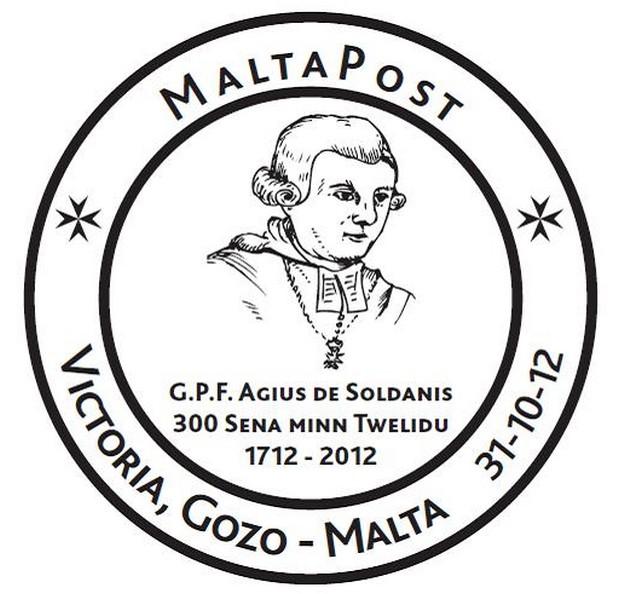 Special Hand Postmark in Gozo -  G.P.F. Agius de Soldanis
