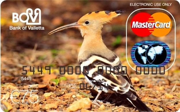 Maltese birds feature on limited edition BOV MasterCard set