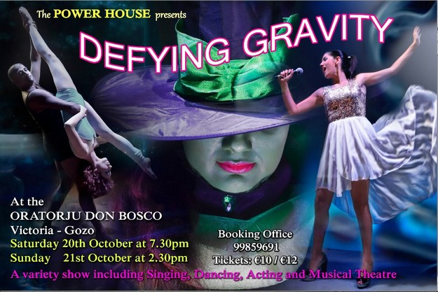 'Defying Gravity' this weekend with The Power House, Gozo