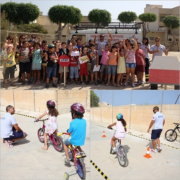 'Fix n Ride Cycling Safety' for children campaign with  ERRC