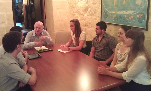 The Gozo University Group meets with Dr Anton Tabone