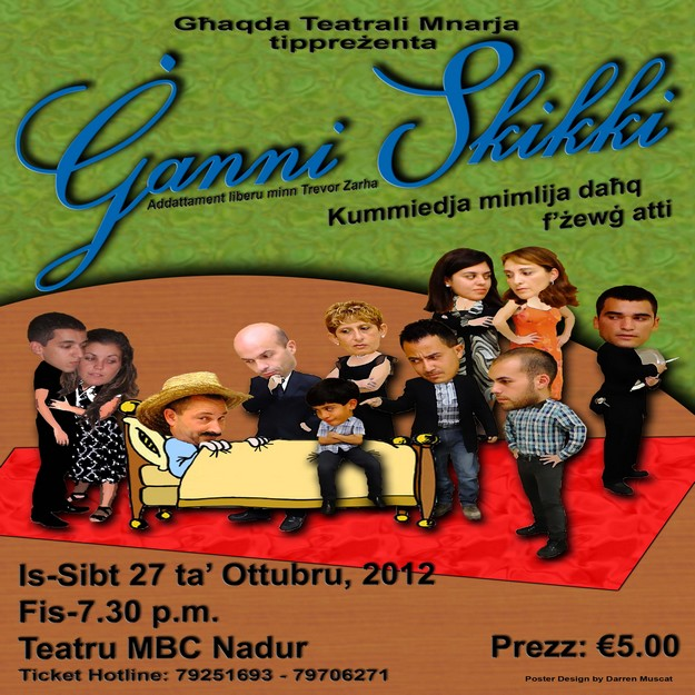 Ganni Skikki -  Theatrical comedy at the MBC Theatre, Nadur